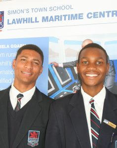 Thami and Archie at prize giving