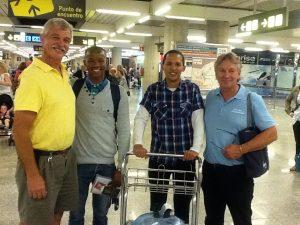 Boys arrive in Palma